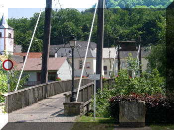 Moersdorf, Luxembourg, footbridge