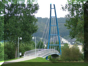 Walferdange footbridge, Luxembourg